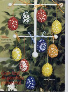SONIA 60 - Daniela Muchut - Álbuns da web do Picasa...Easter decorations with diagrams!