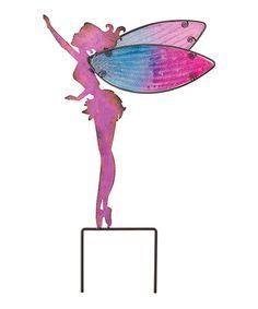 Loving this Large Pink Fairy Garden Stake on #zulily! #zulilyfinds