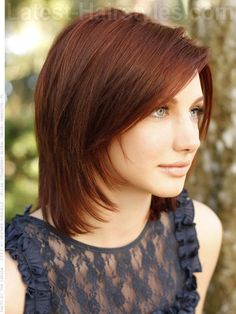 Remarkable Bobs Red Hairstyles And Medium Layered On Pinterest Short Hairstyles Gunalazisus