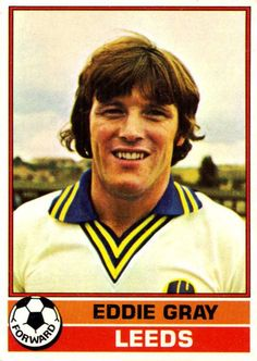 Eddie Gray of Leeds Utd in Soccer Cards, Baseball Cards, Sport English, Leeds United, Football Soccer, Trading Cards, The Unit, 1970s, Sports