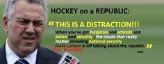 "Joe Hockey on a Republic: ""This is a distraction..."" http://www.abc.net.au/am/content/2015/s4300866.htm… #auspol  ""A complete lack of judgement."""