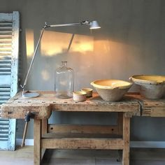 Pure & Original, Fresco lime paint, color River Silt. Click on Visit fore more product information. Cred: More Brocante