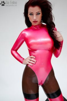 Gia Felino - Barbie Latex Catsuit
