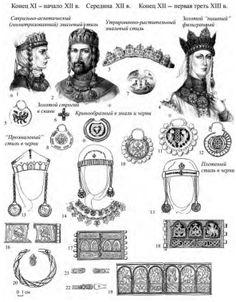 Эмалевый и черневой уборы во второй половине XII – первой трети XIII в.