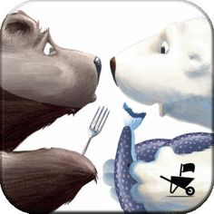 The Very Hungry Bear by Nick Bland - a digital version of the book. Wonderful animation without too many game aspects. A refreshing way to explore this title without taking away from the narrative. Very Hungry Caterpillar, The Book, Animation, Bear, Illustration, Kids, Animals, Wheelbarrow, Cartoons