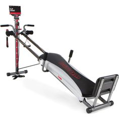 Total Gym 1400 Deluxe Home Fitness Exercise Machine Equipment with Workout DVD. Bring the versatility of the gym to the privacy of your home. Delivers a total body workout in 10-20 minutes. Strengthens and tones major muscle groups simultaneously. Includes excercise flip chart and nutrition guide!. Multi-functional attachments.