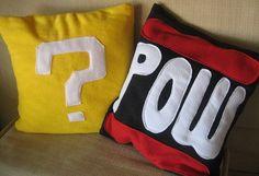 Nintendo pillow cases | nerdy girls craft night | Pinterest