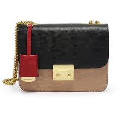 Henri Bendel Waldorf Color Blocked Chain Party Bag (1,095 AED) ❤ liked on Polyvore featuring bags, handbags, shoulder bags, amphora multi, crossbody shoulder bag, henri bendel purses, chain shoulder bag, chain crossbody and crossbody purses