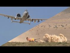 A-10 Warthog in Action. Gun sounds like a fart...but it's actually putting 30mm rounds IN your ass.