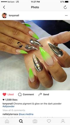 My personal nails done by tonysnail on Instagram
