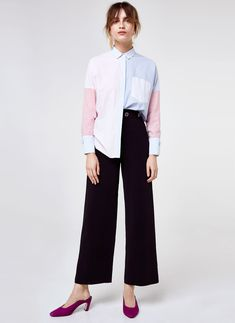 Uterqüe Denmark Product Page - Ready to wear - Shirts and blouses - Multicoloured striped shirt - 690