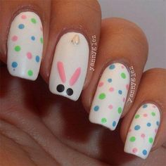 Modern Easter Nail Art Design Ideas Nail designs or nail art is a very simple concept – designs or art that is used to decorate the finger or toe nails. They are used predominately to enhance an o Easter Nail Designs, Easter Nail Art, Nail Designs Spring, Nail Art Designs, Christmas Nail Art, Holiday Nails, Christmas Makeup, Cute Nail Art, Cute Nails
