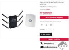Get high quality Moto Ap650 Single Radio Internal Antenna from QuickPOS online store in Sydney. We offer service to only Australia (including Tasmania & Norfolk Island)..!  http://www.quickpos.com.au/pos-hardware/wireless-devices/access-points/moto-ap650-single-radio-internal-antenna