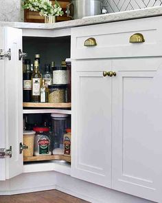 Perfect Pantry Space - Kristin added a lazy Susan to her cabinetry, which will help her get the most out of her space. It will also help provide her with easier access to common pantry items.