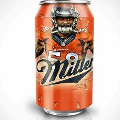 It's Miller Time - Von Miller - Denver Broncos Broncos Memes, Broncos Win, Broncos Gear, Denver Broncos Football, Nfl Memes, Best Football Team, Football Stuff, Football Baby, Football Memes