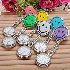 Mehrfarbige+Damen+Analog+Taschen+Uhr+mit+Smily+Motiv+(Verschiedene+Farben)+–+EUR+€+2.93