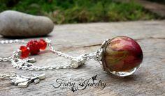 Collana bocciolo rosa rossa resina fata piccolo principe, by Evangela Fairy Jewelry, 15,00 € su misshobby.com