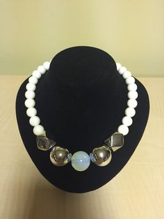 Opal and shell necklace