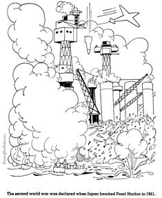 Pearl Harbor - American history coloring pictures for kid