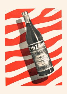 VINTAGE CINZANO AD Cinzano Poster Art Bar by EncorePrintSociety