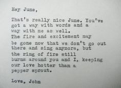 Famous Love Letters That Will Make You A Romantic  Johnny Cash