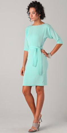Diane von Furstenberg mint dress