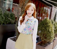 ulzzang preppy cute outfit