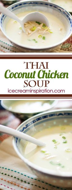 Thai Coconut Chicken Soup. The only Thai Coconut Chicken Soup recipe you will ever need.