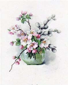 Beautiful Paintings Of Flowers, Beautiful Flowers, Watercolor Plants, Watercolor Paintings, Painted Vases, Acrylic Painting Techniques, Decoupage Vintage, Pastel Art, Watercolor Illustration
