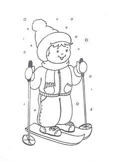 šablona na lyžaře