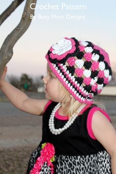 CROCHET PATTERN  Spring Fling Beanie  Quick and by BusyMomDesigns, $3.95