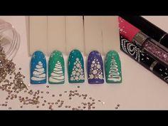 Новогодний дизайн! МК Самые простые ёлочки! Nail art. - YouTube