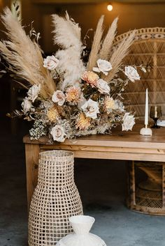 Neutral toned wedding flowers So much to love about this neutral toned boho wedding inspiration shoot at The Mulberry in New Smyrna Beach! Click pin for more! Orange Blossom Bride   Orlando Wedding Blog #orlandoweddings #bohowedding #weddinginspiration #weddingstyle Boho Wedding Hair Half Up, Boho Wedding Shoes, Boho Wedding Bouquet, Bohemian Wedding Decorations, Boho Wedding Flowers, Wedding Centerpieces, Floral Wedding, Embellished Wedding Gowns, Smyrna Beach