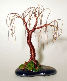 Oak bonsai - Mini Wire Tree Sculpture