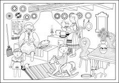 I had the pleasure of working with Brook from The Calendar Song illustrating some fun Where's Waldo style pictures. Calendar Songs, Crystal Glassware, Placemat Sets, To Color, Toddler Preschool, Adult Coloring Pages, Art Lessons, Techno, Folk