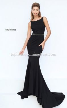 Sherri Hill 50471 Fitted Beaded Black Prom Dress