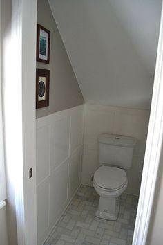 wc sous escalier escaliers pinterest sous escalier escaliers et salle de bains. Black Bedroom Furniture Sets. Home Design Ideas