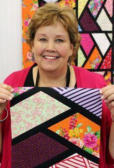 Jenny Sashed Half Hexagon Quilt