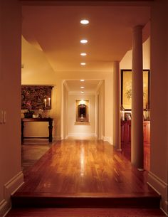 Adjustable recessed lighting is ideal for accent lighting over great distances Juno Lighting, Accent Lighting, Residential Lighting, Lobbies, Downlights, Stairways, Save Energy, Condo, Living Spaces