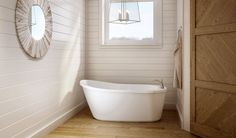 The Arietta™ Freestanding bathtub is a compact take on the timeless slipper tub that can turn a modest bathtub into a relaxing retreat.