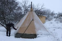 """From Tentipi Blog ' One year in our Nordic Tipi' - """"Winter in the Nordic tipi was a pleasant surprise in many ways. It was not at all cold, nor was it boring or difficult to live in the tent. Instead it was very interesting and good fun."""""""
