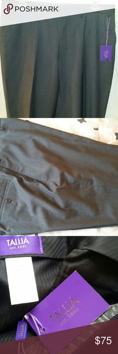 Tallia men charcoal grey dress slacks 38x32 Charcoal Tallia men dress slacks available in black also under another listing. Bundle for discount. These are brand new with tags. Make an impression with these! Tallia  Pants Dress
