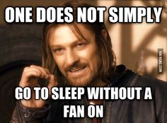 My husband got me addicted to sleeping with the fan on. Now I cant sleep without it!