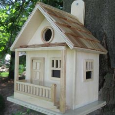 Decorative Birdhouses from $37.95 with Free Shipping! This decorative birdhouse resembles a quaint cabin in the woods.
