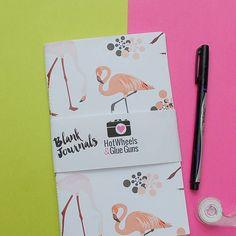 One Flamingo Journal, Handmade Notebook, 5x8 Midori Travelers Notebook Refill $6 **Useful as a bullet journal, prayer journal, bible journal, recipe journal, to do lists! by HotWheelsandGlueGuns