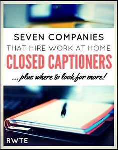 7 Places to Find Work at Home Closed Captioning Jobs Here's a list of seven legitimate companies that hire work at home closed captioners, plus a few ideas for where to look to find even more jobs like this. Make Money Writing, Make Money Blogging, Make Money Online, Managing Money, Money Tips, Make Money Fast, Make Money From Home, Captioning Jobs, Close Caption