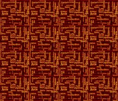 Under Your Spell (Gryffindor dark, size variation) fabric by implexity on Spoonflower - custom fabric