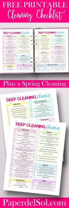 Free Printable House Cleaning Checklist!