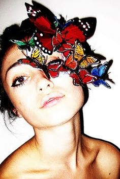 Butterfly mask. I want to go to a masquerade wearing this!!