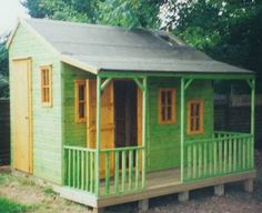 Front view Ranch Style Childrens Playhouse